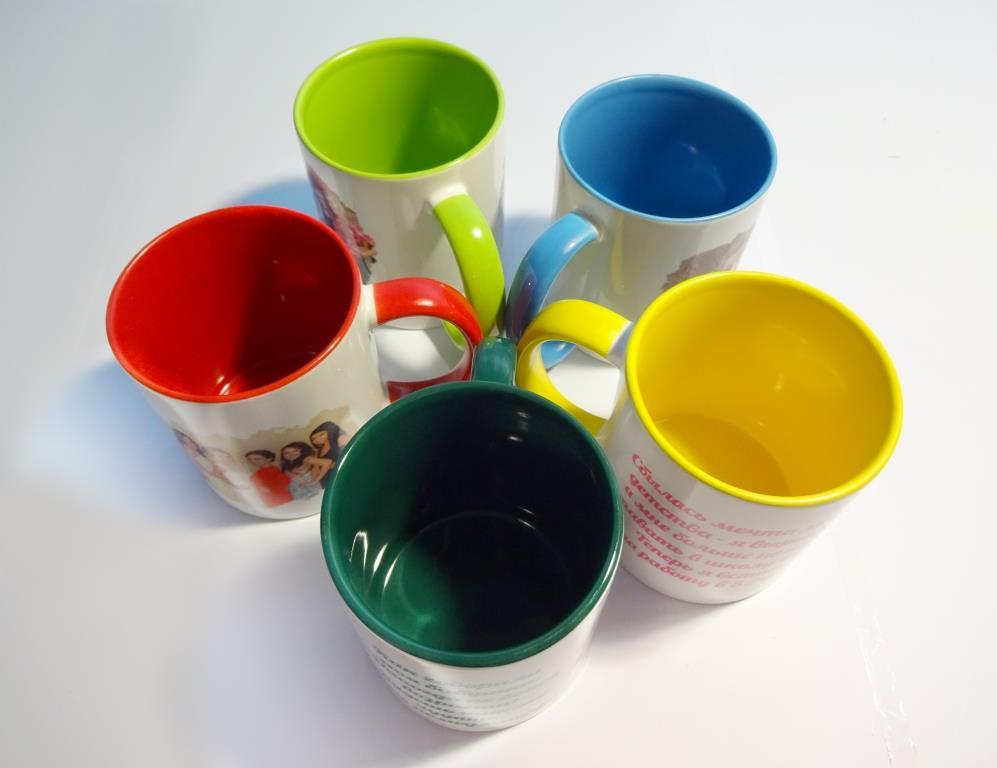 Печать на кружке цветной с вашей фотографией, картинкой, логотипом или надписью